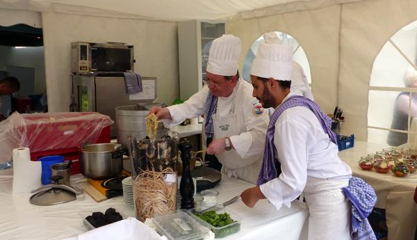 Die mobile Küche des Restaurants Vieux Sinzig